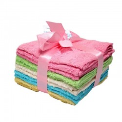 6 Pack Wash Cloth (Assorted Colors)