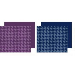 2 Pack Sheets Set (Plum/Navy Houndstooth)