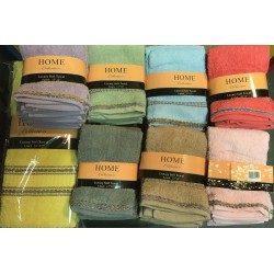 6 pack banded wash cloths 13""