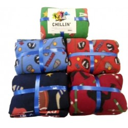 Patterned Fleece Blanket (Assorted Patterns, Twin Size)