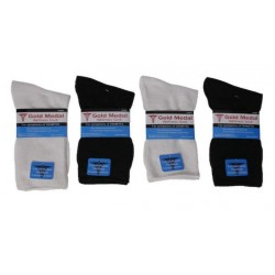 Diabetic Comfort Crew Sock Large Black/White