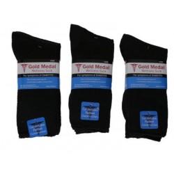 Diabetic Comfort 3PK Crew Sock MED/LGE Black