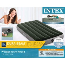 TWIN PRESTIGE DOWNY AIRBED W/ BATTERY PUMP