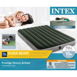 INTEX FULL PRESTIGE DOWNY AIRBED W/ BATTERY PUMP