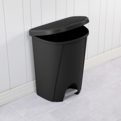 6.6 GALLON STEP-ON WASTEBASKET BLACK