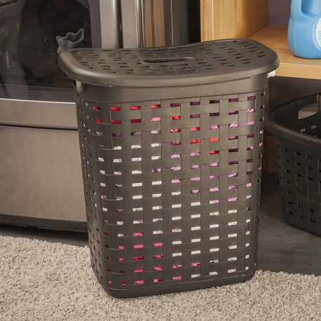 WEAVE LAUNDRY HAMPER CEMENT