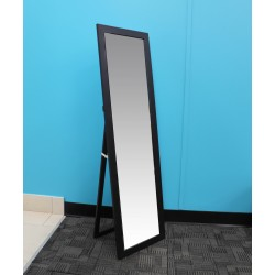 "EASEL BACK MIRROR BLACK 11"" x 47"""