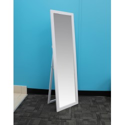 "EASEL BACK MIRROR WHITE 11"" x 47"""