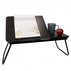 """LAPTOP BED TRAY ADJUSTABLE CHERRY WOOD 23"""" x 15"""" x 11"""""""