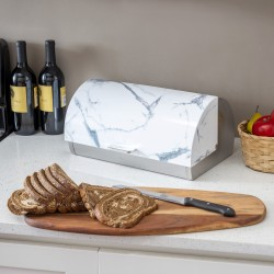 BREAD BOX MARBLE WHITE METAL/MARBLE
