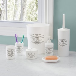 7PC BATH ACCESSORY SET PARIS