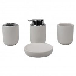 4PC BATH ACCESORY SET LUXEM GREY