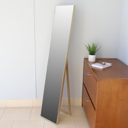 11 x 58 EASEL BACK MIRROR GOLD
