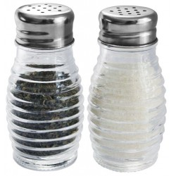 2 Pc Salt/Pepper Set (Beehive Design)