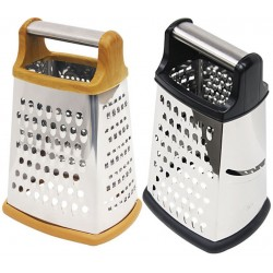4-Sided Cheese Grater with Metal Handle