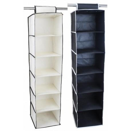 Superieur Closet Organizer 6 Shelf Black/White