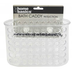 Bath Caddy W/Suction Clear