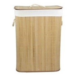 "16"" X 12"" X 23"" Rec. Folding Bamboo Hamper Nat"