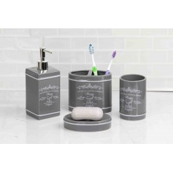 4pc Ceramic Paris Bath Set