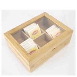 TEA BOX HOLDER BAMBOO