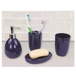 4PC BATH ACCESSORY SET NAVY