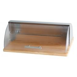 BREAD BOX ACRYLIC/WOOD 15X11X6