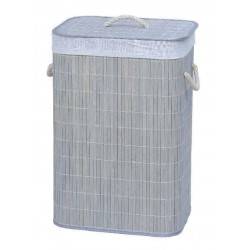 "16"" X 12"" X 23"" Rec. Folding Bamboo Hamper Gray"