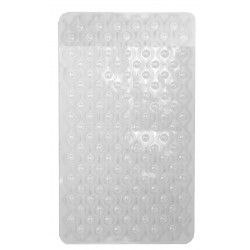 BATH MAT BUBBLE WAVE (PLASTIC/CLEAR)