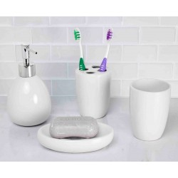 4PC BATH ACCESSORY SET GREY