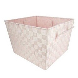 WOVEN STRAP BIN XLG PINK