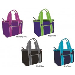 9 Can Grommet Tote Insulated Cooler Asst. colors