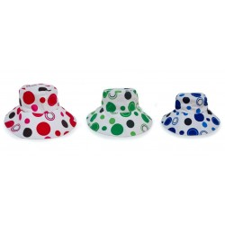 Hats Assorted Red Dot, Lime Dot, Blue Dot