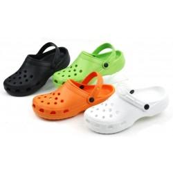 LADIES Crocks 6-11 (Black,white,Orange,Green)