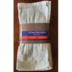 18 PACK Washcloths (12x12)