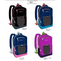 "Backpack Asst. Colors 18""x13""x6"""