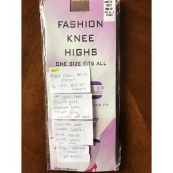 Fashion Knee Highs (ONE FITS ALL) ASST. COLORS