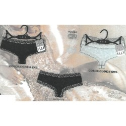 3PK Cheeky Panty With Lace Asst.