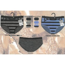 ELLE 3PK Seamless Shadow Stripe Bikini Asst. colors