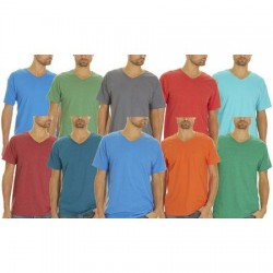 Fruit Of the Loom V- Neck T-Shirt SMALL (Asst. Colors)