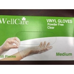 Wellcare Vinyl Gloves Clear (SMALL)