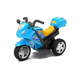 Rechargeable 6V Battery Operated Junior Motor Bike (Blue)