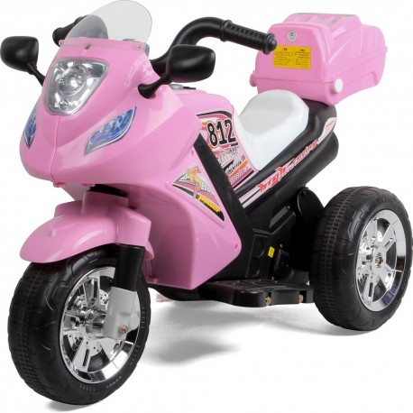 Rechargeable 6V Battery Operated Junior Motor Bike (Pink)