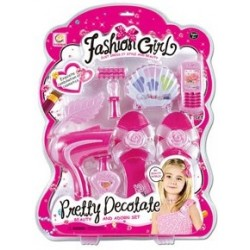 GIRLS HAIR ACCESSORIES AND DOLL SET