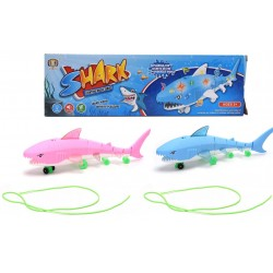B/O Pulling Shark With Light/Music Pink/Blue