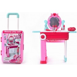2 in 1 Beauty Play Set, Dresser Set With Light & Music