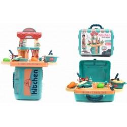 Kitchen Set Suitcase Green 21.50''×9.50''×25.00''