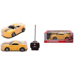 """4-CH R/C CAR WITH LIGHT 27MHZ YELLOW 10.8""""x4.7""""x3.7"""""""