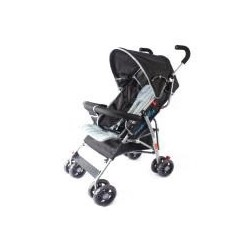 TWO POSITION STROLLER W/ ROUND CANOPY,BASKET &BUMPER SOLID BLACK