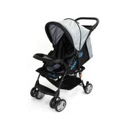 MULTI POSITION COMPACT STROLLER W/ROUND CANOPY, BASKET & TOY TRAY BLACK