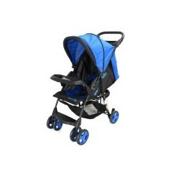 MULTI POSITION COMPACT STROLLER W/ROUND CANOPY, BASKET & TOY TRAY ROYAL BLUE